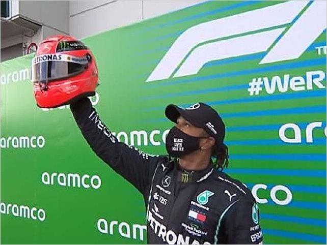 Lewis Hamilton hace historia y empata a Schumacher en triunfos