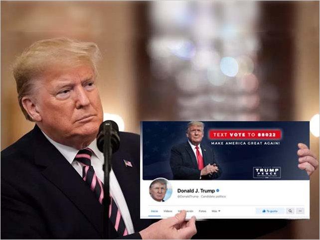 Las cuentas de Trump en Facebook e Instagram ya están activas. La empresa las activo por temor a represalias.