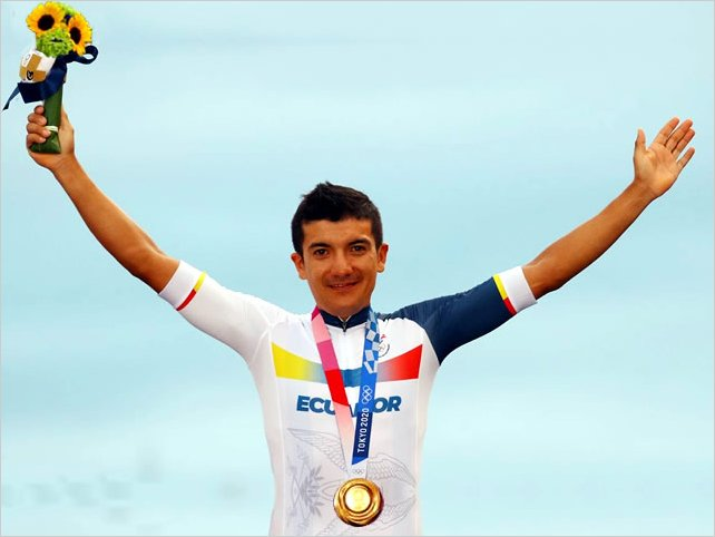 Richard Carapaz gana medalla de Oro en Tokio para Ecuador después de 25 años