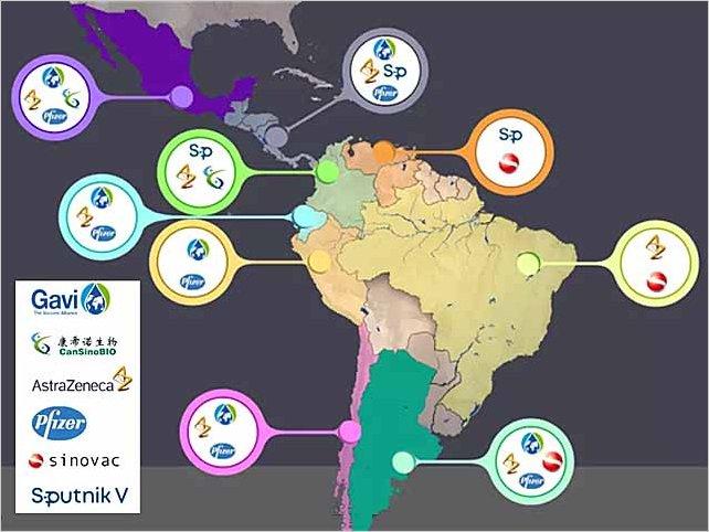 Covid-19: la vacunación en América Latina se prevé lenta y dispar