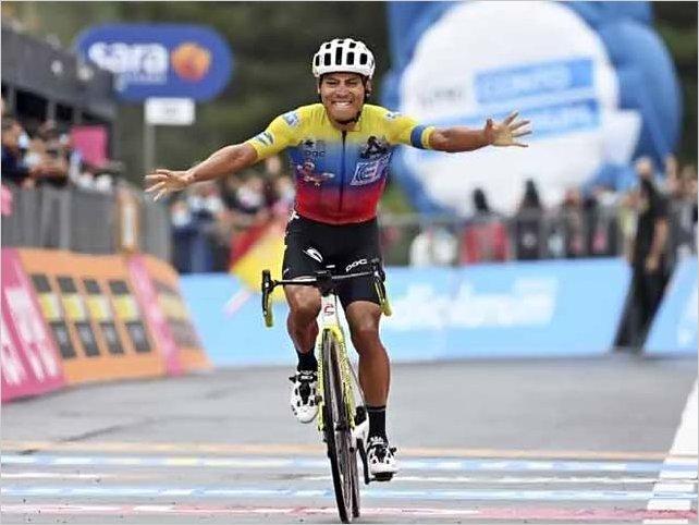 Triunfo del ecuatoriano Jonathan Caicedo en la tercera etapa del Giro de Italia