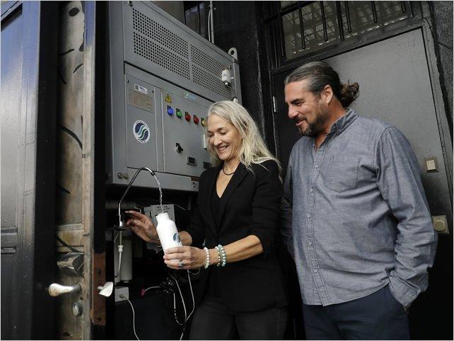 Crean un dispositivo capaz de transformar el aire en agua potable