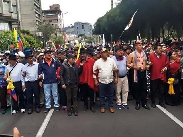 La Conaie indica que no han negociado ningún acuerdo con el Gobierno de Lenin Moreno