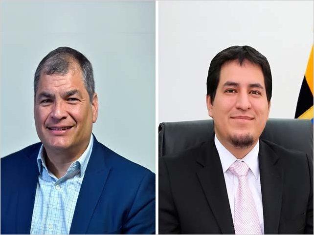 Rafael Correa y Andrés Arauz confirman su binomio a las presidenciales de Ecuador: