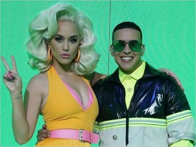 Daddy Yankee y Katy Perry cantan por primera vez el remix de