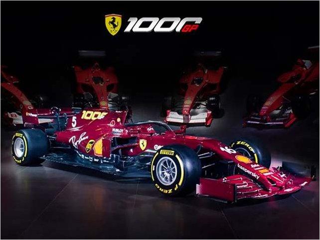 Ferrari cambió el color de su auto para celebrar las mil carreras en Fórmula 1