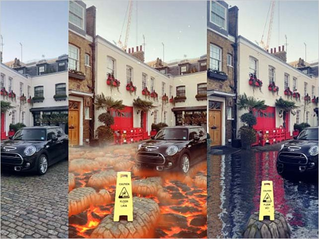 Nuevo filtro de Snapchat convierte el piso en lava o agua