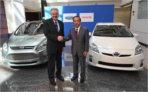 Toyota y Ford terminan alianza para desarrollar autos híbridos