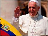 Tres d�as estar�a el papa Francisco en Ecuador del 6 al 8 de julio