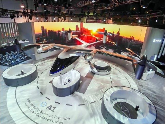 El taxi volador presentado por Hyundai y Uber en la CES 2020