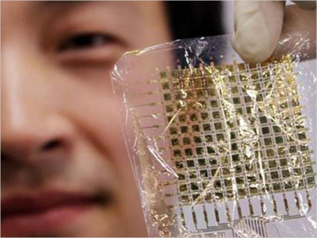 Japonés inventa pantalla de LED que se adapta al cuerpo como una segunda piel