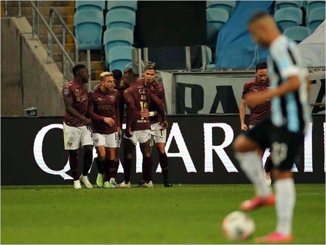 Liga de Quito sorprendió a Gremio en Brasil y lo eliminó de la Sudamericana