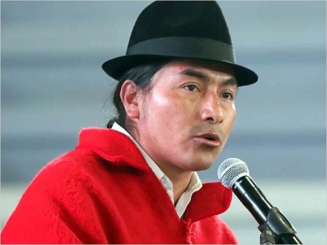 Intención de voto en Ecuador estaría a favor de líder indígena