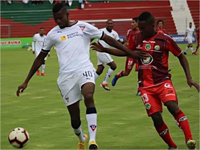 Liga de Quito derrotó 4 - 0 al Mushuc Runa en el Bellavista