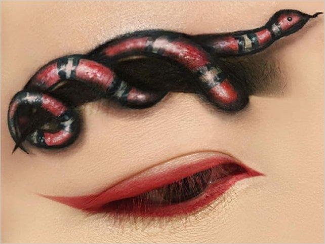 Maquillaje con efecto óptico que te dejará con la boca abierta