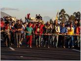 Marcha ind�gena ya ha recorrido 700 km y llegar�a ma�ana a Quito