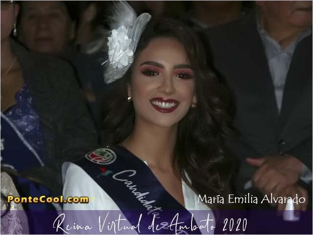 María Emilia Alvarado es la Reina Virtual de Ambato 2020