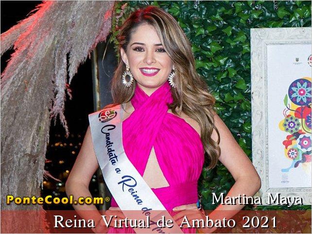 La Srta. Martina Maya es la Reina Virtual de Ambato 2021