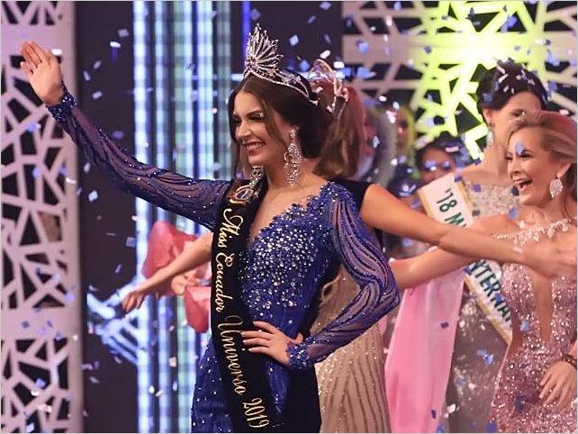 La guayaquileña Cristina Hidalgo es elegida Miss Ecuador 2019