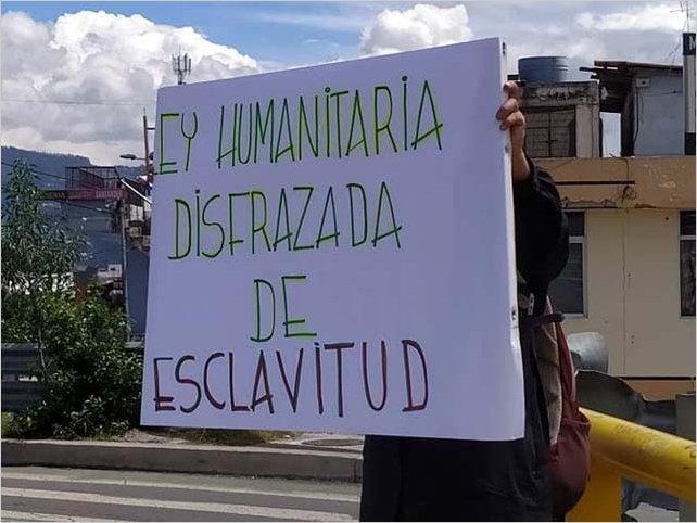 Protesta en Ecuador contra ley de flexibilización laboral aprobada en plena pandemia