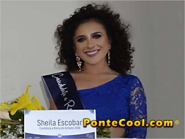 Sheila Escobar es la primera inscrita para candidata a Reina de Ambato 2020