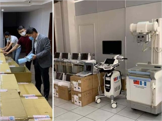 Taiwán dona un millón de dólares a Nicaragua para Covid-19 y donó equipo médico a hospitales de campaña de Guatemala