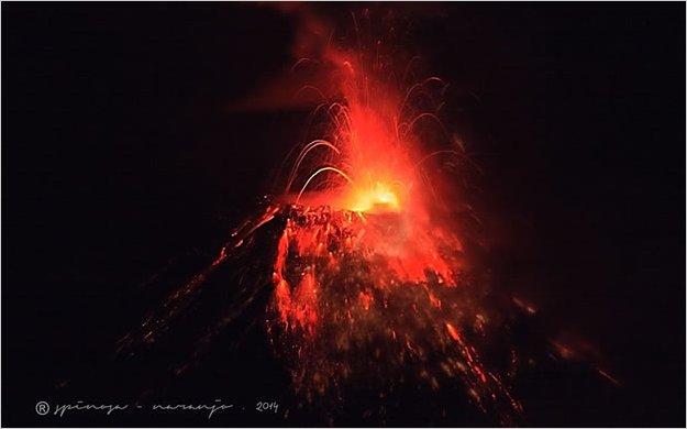 Imagenes De Baño Danado:El volcán Tungurahua mantiene su actividad explosiva